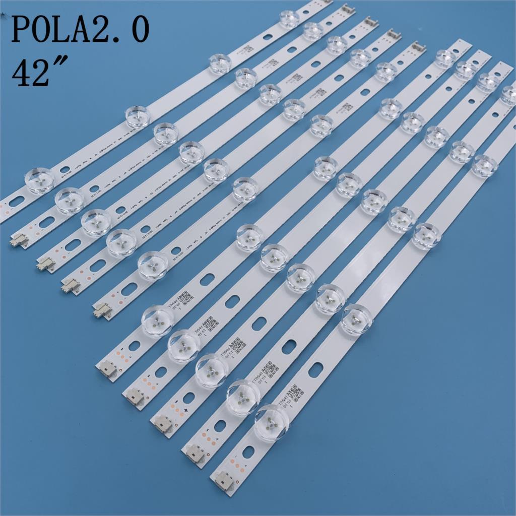 "New 10 PCS/set LED Backlight strip For LG 42 inch TV 42LN5400 42LN5300 T420HVN05.2 innotek POLA2.0 42""A POLA 2.0 42 B type"