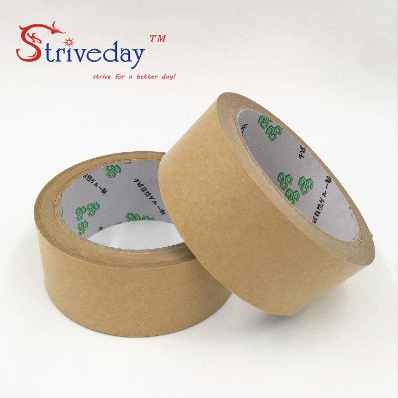 1pcs 48mm wide 25 meters long Water free kraft paper tape photo frame tapes sealing tape leather belt high viscosity DIY