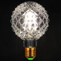 vintage led bulb e27 220v 4000k heart diamond edison light lamp 4w st64 t185 t300 g80 g95 g125 spiral filament retro lamps