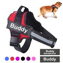 Arnés de perro personalizado reflectante ajustable transpirable Chaleco con arnés para mascota con parche personalizado perros caminar entrenamiento mascotas suministros