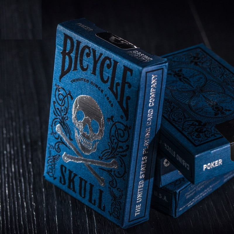Bicycle Luxury Skull Playing Cards Poker Size Deck Magic Cards Close Up Stage Magic Tricks Props for Magician magic cards svengali deck atom playing cards poker card games close up stage magic tricks props for magician