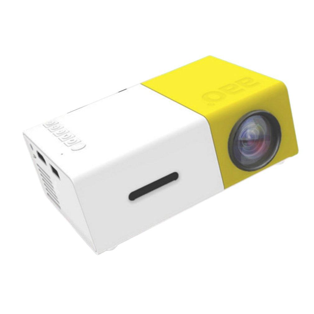 LED جهاز عرض صغير 480x320 بكسل يدعم 1080P YG-300 HDMI متوافق USB الصوت المحمولة العارض الرئيسية ميديا مشغل فيديو