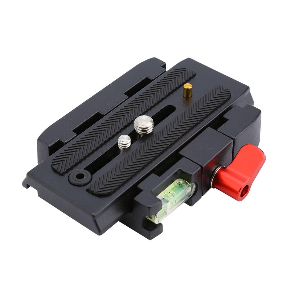 Trípode de alta calidad Placa de liberación rápida aleación de aluminio montaje de cámara P200 alicates adaptador para Manfrotto 577 501 500AH
