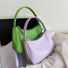 Elegant Female Solid color Tote bag 2020 Summer New Quality Soft Leather Women's Designer Handbag Travel Shoulder bag Armpit bag