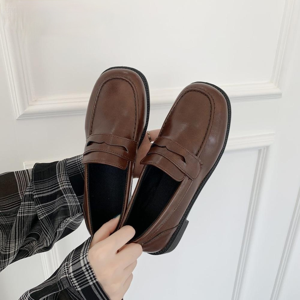 Japanese Student Shoes Girly Girl Lolita Shoes JK Commuter Uniform Shoes Loafer Casual Mary Jane shoes platform japanese sweet lolita cosplay t strap bowtie mary jane shoes princess girl square heel latin dance shoes