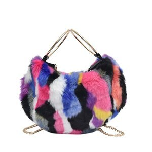 Sweet Girls Handbag Faux Fur Women Messenger Crossbody Bags Large Capacity Evening Party Shoulder Bag Travel Totes sac a main