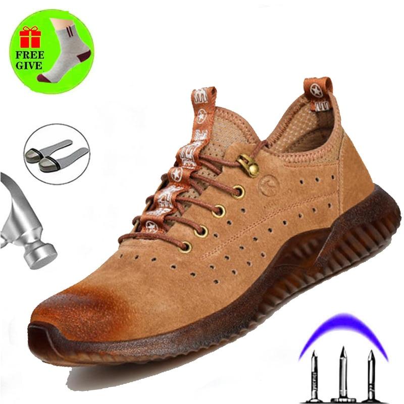 مكافحة تحطيم مكافحة ثقب غطاء صلب لأصبع القدم أحذية أمان الذكور خفيفة الوزن أحذية عمل ارتداء مقاومة مزيل العرق الرجال الشتاء الأحذية
