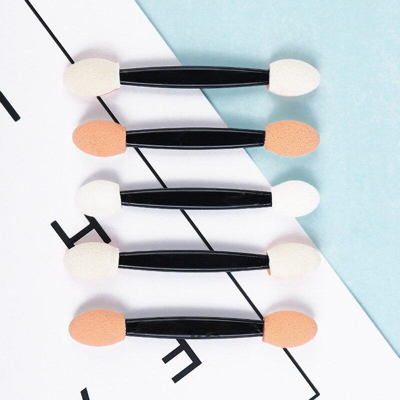 wholesale Sponge Powder Puff Nail Brush Double-sided Eye shadow Stick Cosmetic Makeup Glitter Pigment Brush Nail Art Tool Set