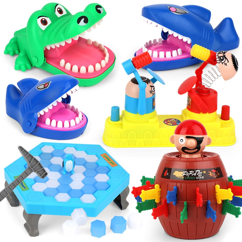 2017 hot crocodile jokes mouth dentist bite finger game joke fun funny crocodile toy antistress gift kids child family prank toy 2021 Hot Sell Pirate Barrel Crocodile Shark Mouth Dentist Bite Finger Game Funny Novelty Gag Toy for Kids Children Play Fun