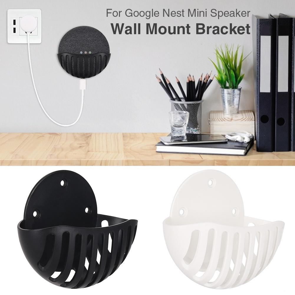 Holder for Google Nest Mini Speaker Wall Mount Bracket for Google Nest Mini Wall Hanger Organizer Rack Speaker Accessories