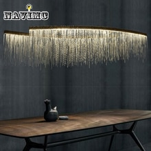 Lumière moderne de pendentif LED de douche de météore de chaîne en aluminium pour la salle dhôtel