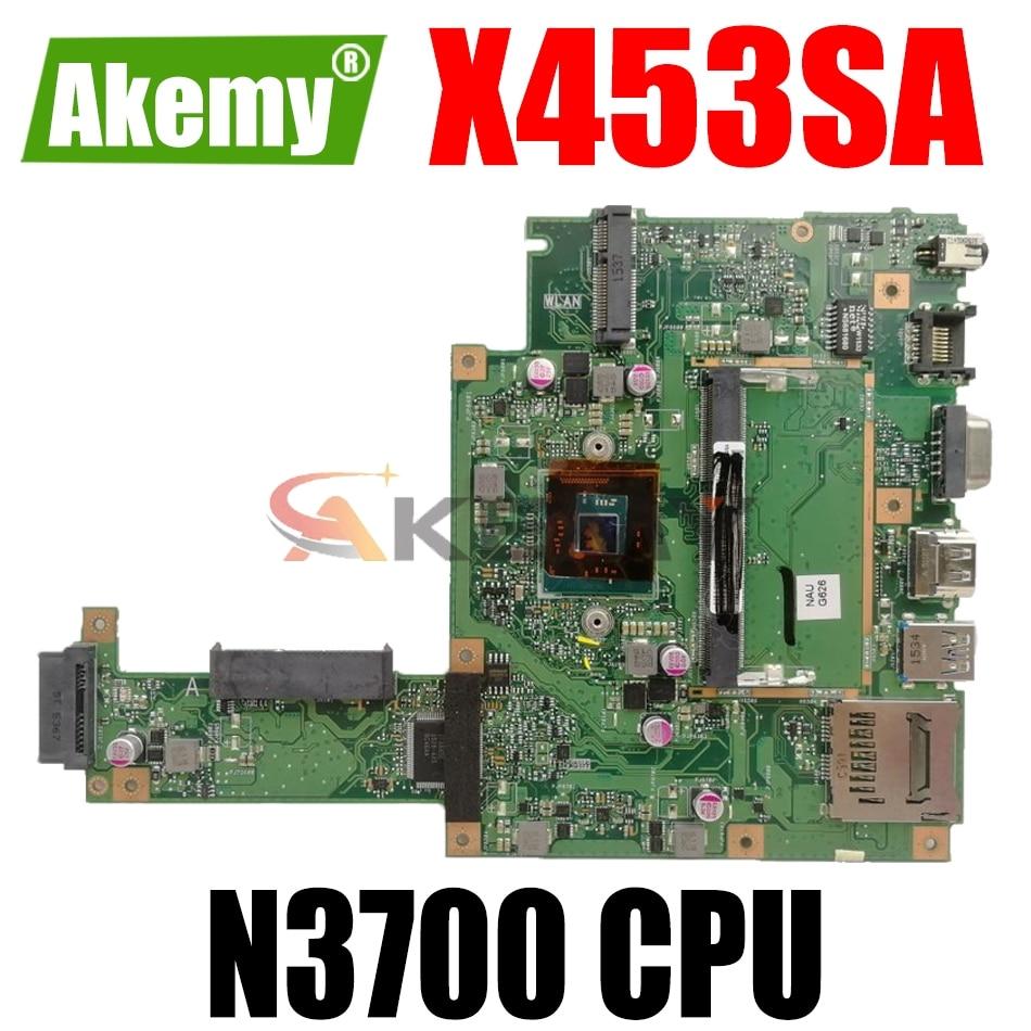 AKEMY X453SA اللوحة الأم للكمبيوتر المحمول ASUS X453SA اللوحة الرئيسية الأصلية N3700
