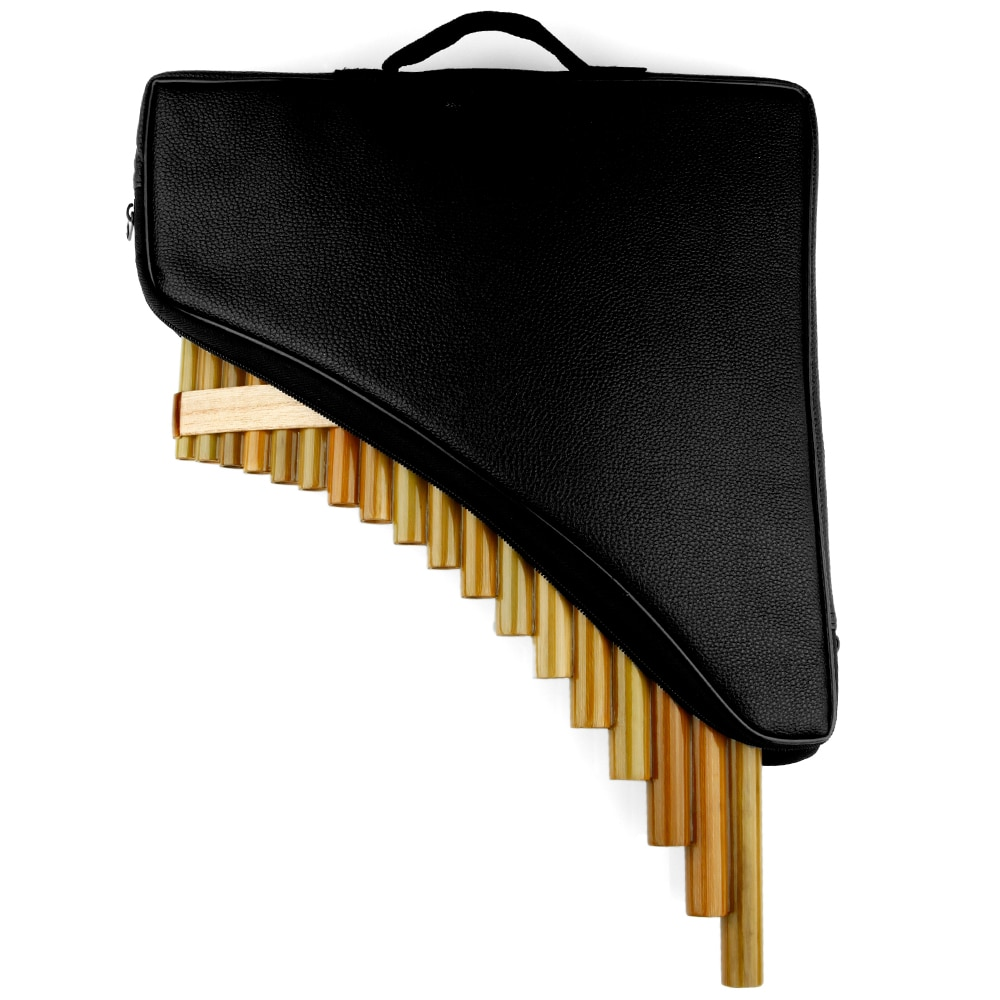 18 Pipes  Pan Flute F Key Folk Musical Instruments  Original Colour Flute De Pan Woodwind Instrument Handmade Pan Pipes enlarge