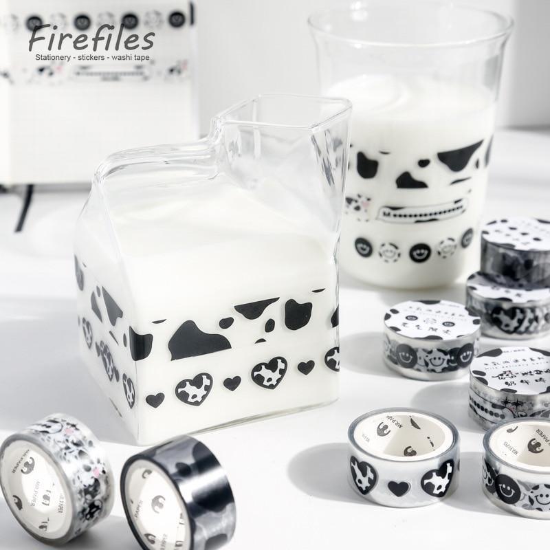 Высокое качество молока набор декоративного скотча Васи дневник офисные школьные принадлежности кавайи японская Канцелярия клейкую ленту...