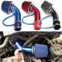 universal 76mm car air filter clamp on mushroom head cold air intake filter high flow washable induction kit with bracket clamps