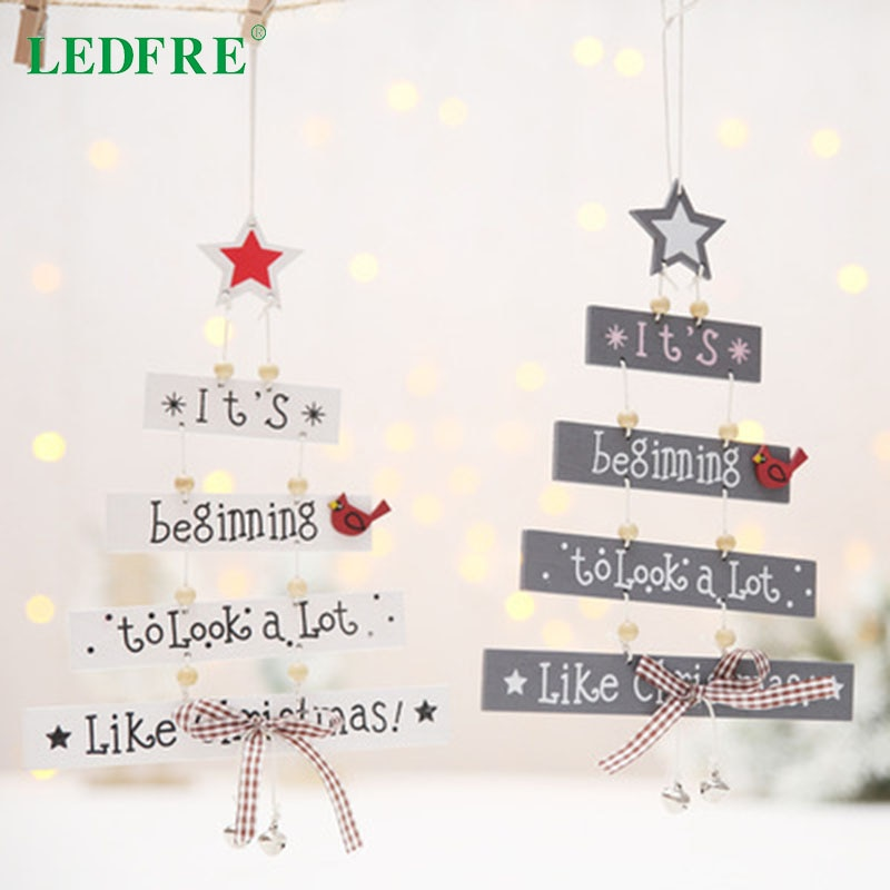 New Christmas Decorations Christmas Tree Shaped Pendant Ornament Creative Tree Color Letter Christmas Tree Ornament LF98032