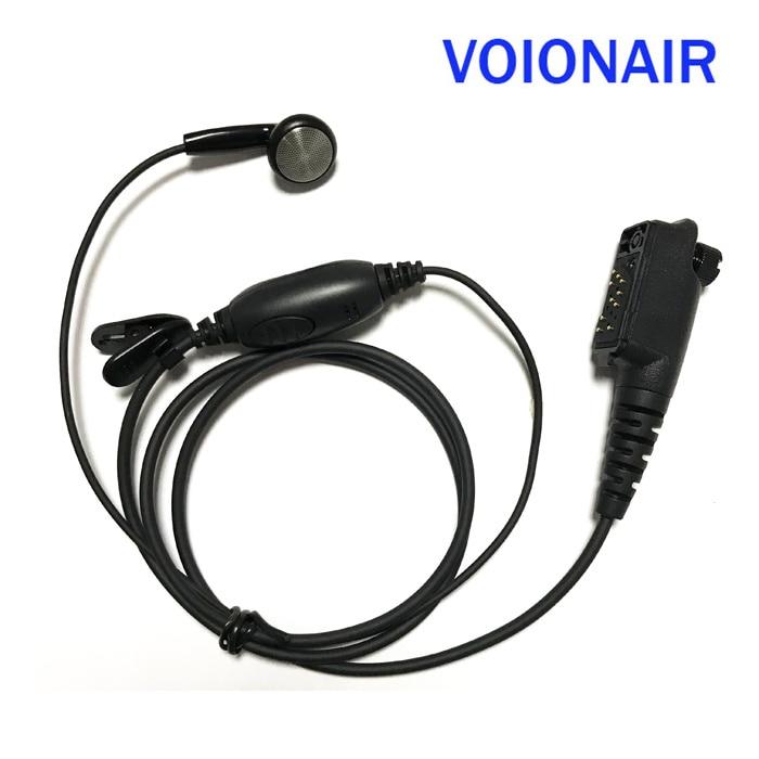 Auricular VOIONAIR 10 unids/lote, auricular, auricular, altavoz, micrófono PTT para Nokia Airbus EADS THR8 TH1N Radio