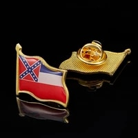 usa mississippi state flag lapel pin gold plated badgepin multicolor brooch 1 9cm2 1cm