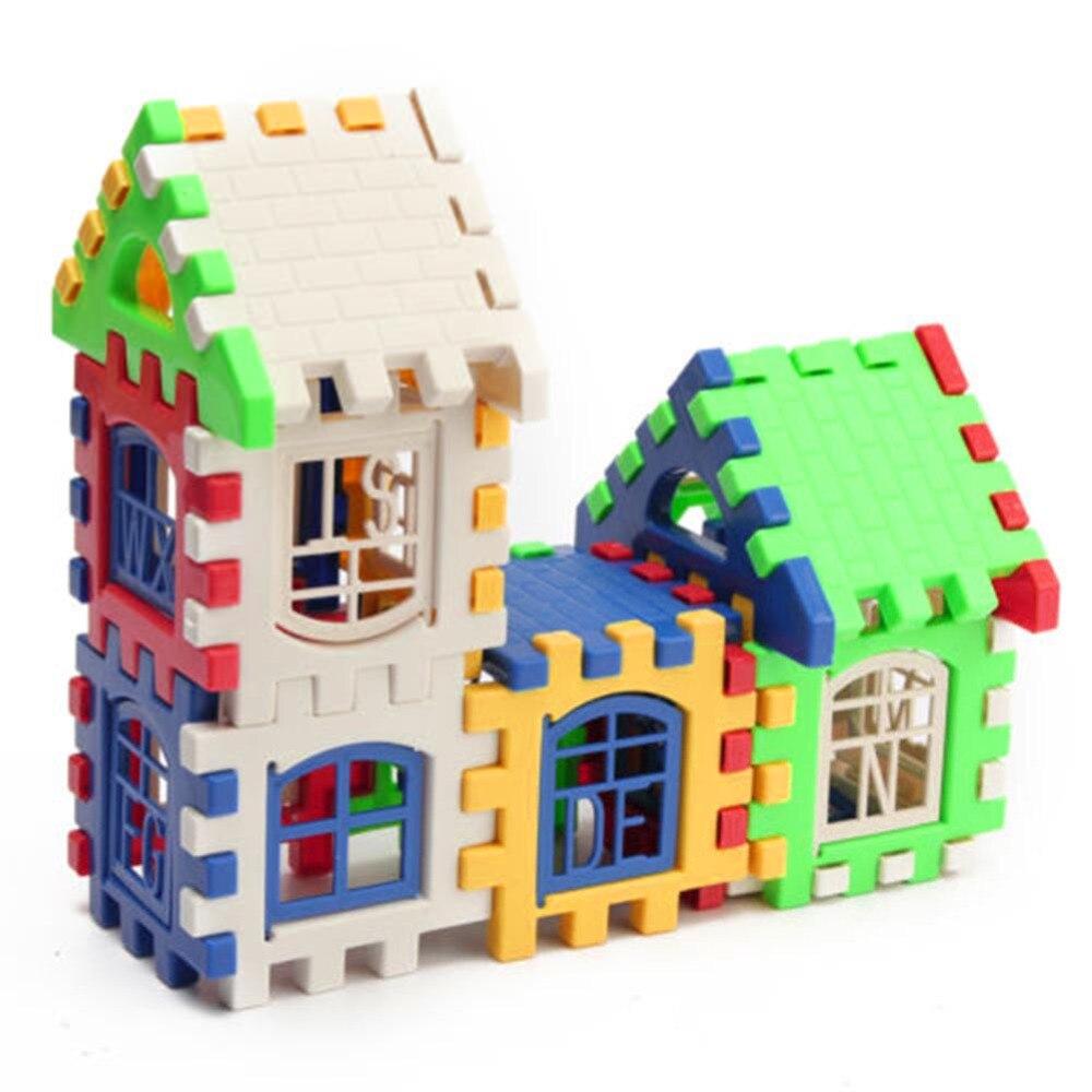24 шт Строительные блоки детский домик строительные блоки Развивающие игрушки набор 3D кирпичи игрушки строительного кирпича, GYH
