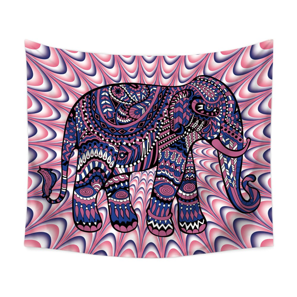 PLstar Cosmos Watercolor Elephants Tapestry 3D Printing Tapestrying Rectangular Home Decor Wall Hanging New style-10