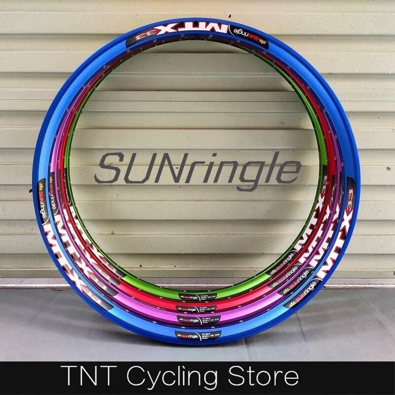 """Sunringle MTX33 32H 36 agujeros 26 """"27,5"""" Disco MTB llanta para todos montaña/Tierra saltar/abajo/Enduro/gratis"""