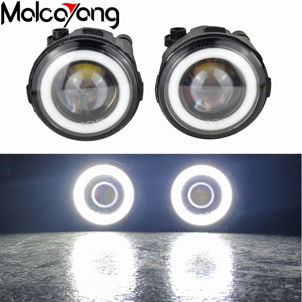 2 faros antiniebla de Ángel, luz LED antiniebla de montaje para Infiniti QX70 QX56 Q60 QX50 Q70 G25 G37 2006-2014 para Nissan Note Murano Z51 Juke