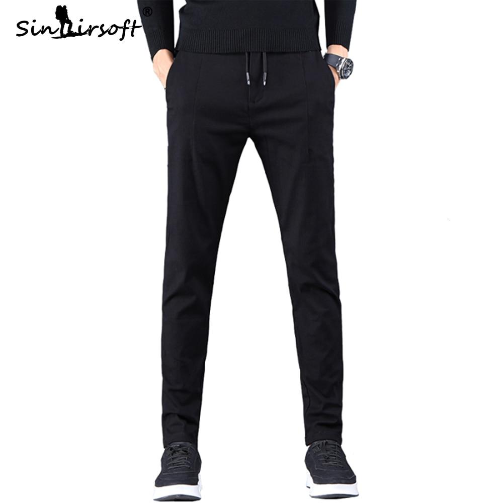 New Arrival Men's Casual Harlan Pants Male Full Length Trousers Slim Fit Black Blue Pencil Pants Drawstring Waist 2019 Fashion