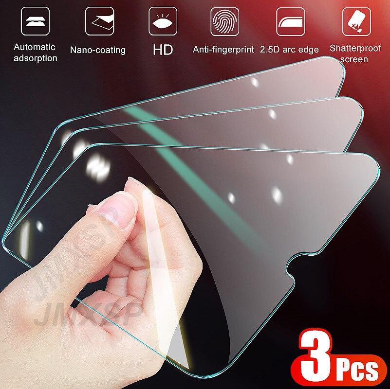 3Pcs Glass on For Samsung Galaxy A01 A11 A21 A31 A41 A51 A71 Screen Protector Glass For Samsung A10 A30 A40 A50 A70 A90 Glass