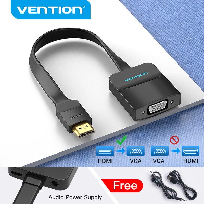 Vention-Adaptador de HDMI a VGA 1080P HDMI macho a VGA hembra con...