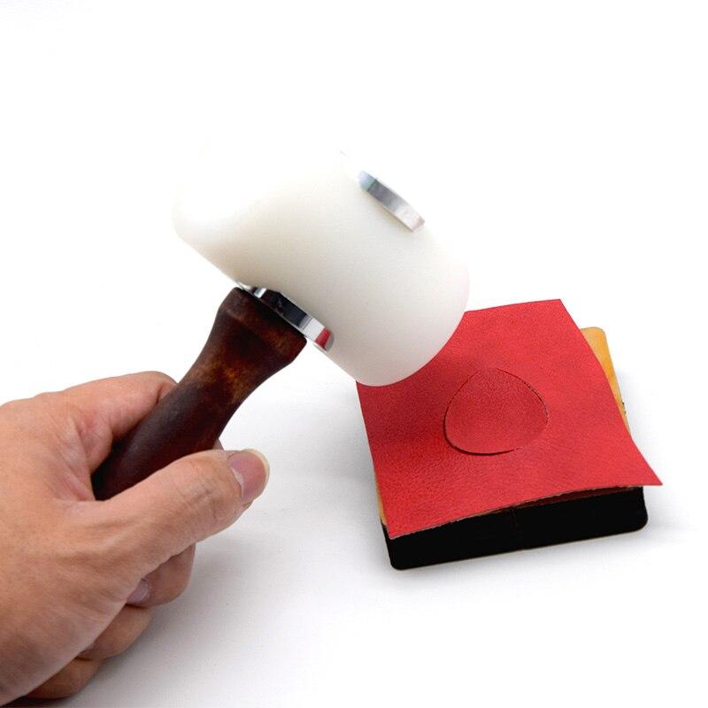 Ручной кожаный перфоратор SMVAUON, пробойник для кожи, для резки, DIY, нейлоновый Перфоратор с деревянной ручкой, для кожевенного ремесла