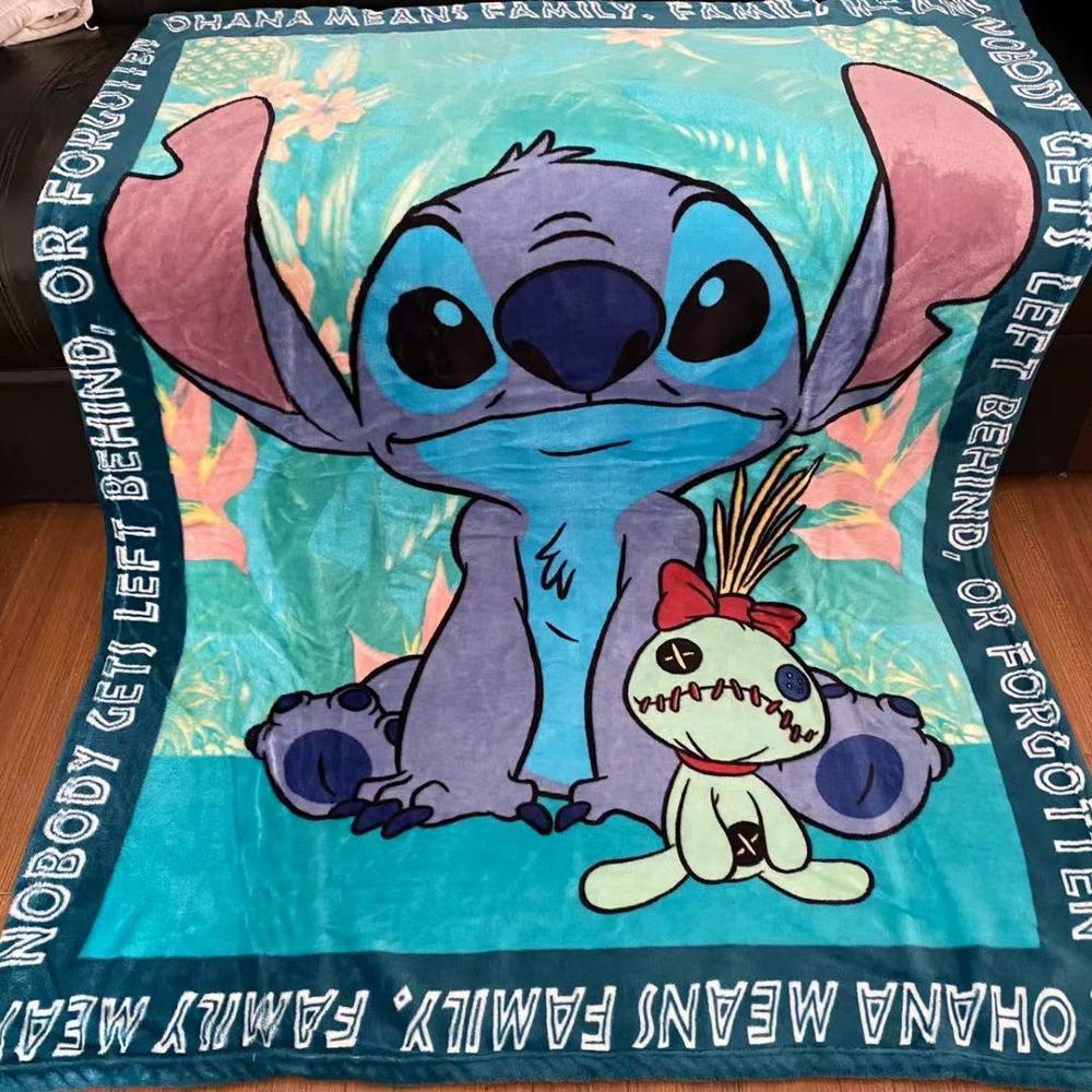Disney Lilo & Stich 3D Gedruckt Decke Thows Couch Quilt Abdeckung Reise Bettwäsche Samt Plüsch Werfen Jungen Baby Kinder Fleece decke