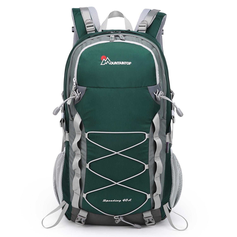 تسلق الجبال 40L المشي لمسافات طويلة حقيبة السفر للرجال والنساء مع غطاء للمطر