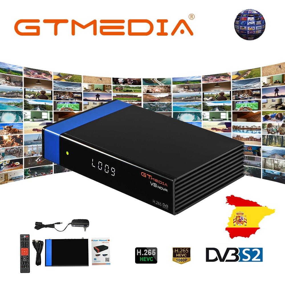 DVB-S2 FTA Gtmedia V8 NOVA receptor de televisión por satélite azul wifi Freesat V8 receptor H.265 medios gt v8 nova