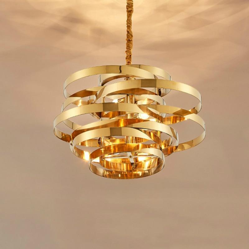 Promo Caldo 19 Di Sconto Nordic In Acciaio Inox Oro Lampade A Sospensione Illuminazione Camera