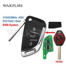 3 botão 315 mhz 433 mhz id44 pcf7935 atualizado diy carro remoto chave para bmw ews x3 x5 z3 z4 325 525 série keyless entrada transmissor