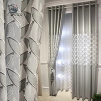 as nordic light luxury high end atmosphere hollow embroidery simple modern semi shading curtains for living dining room bedroom
