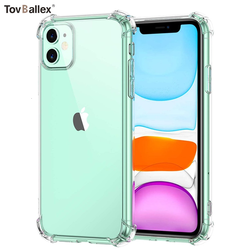 100 piezas caja del teléfono para Apple iPhone 11 Pro Max XS XR 8X8 7 6S 6 Plus SE 5S funda protectora antideslizante a prueba de golpes