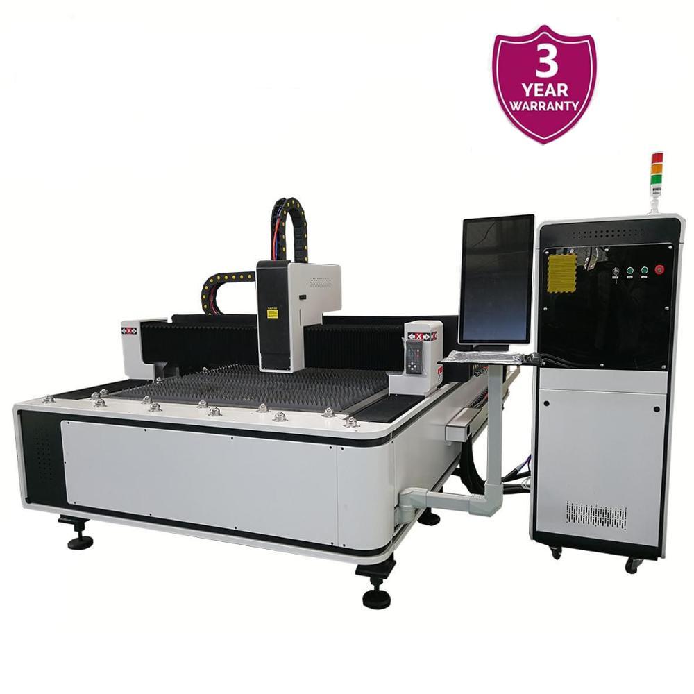 1000W 1530 máquina cortadora láser de fibra para Metal IPG/ Raycus fuente láser directamente de fábrica precio cortador láser