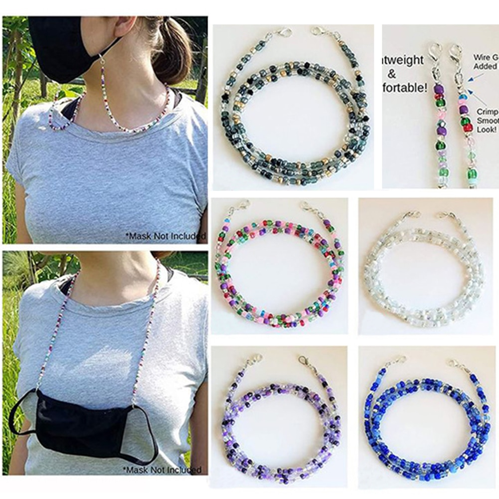 7 Colors New Adjustable Length Mask Chain for Women Neck Chain Accessories Necklaces Strap Holder fo
