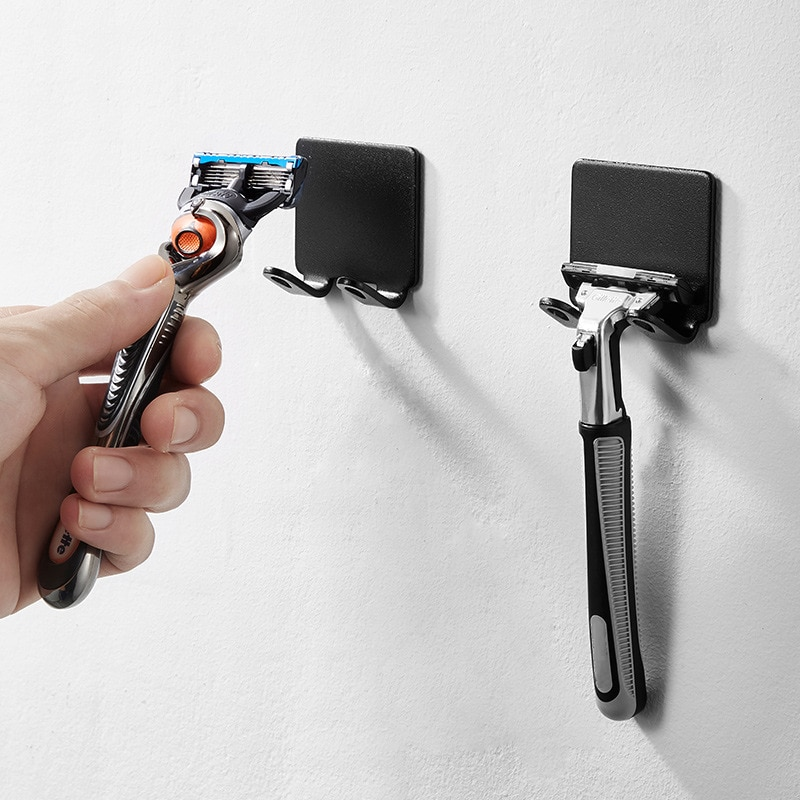 1Pcs Men Shaver Shelf Nordic Style Punch Free for men's razor holder Storage Hook Bathroom Accessori