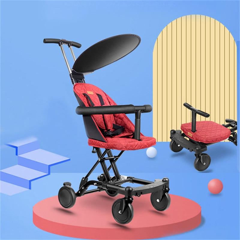 المحمولة الاطفال عربات الأطفال طفل للطي عربة للأطفال المشي سكوتر الطفل عربة السرير كرسي متحرك مع حاجز