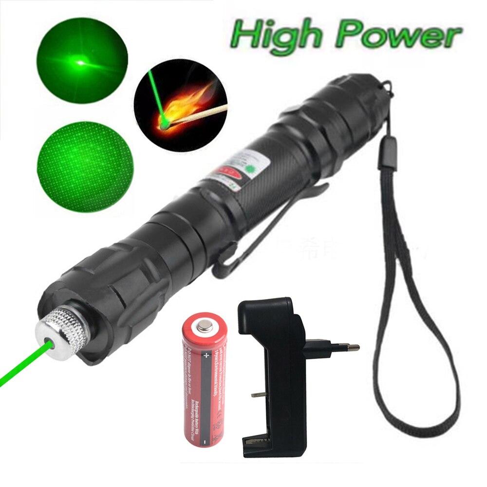Зеленая лазерная указка высокой мощности, 5 мВт, красный точечный Лазер светильник мощная цветная лазерная ручка с регулируемым фокусом от ...