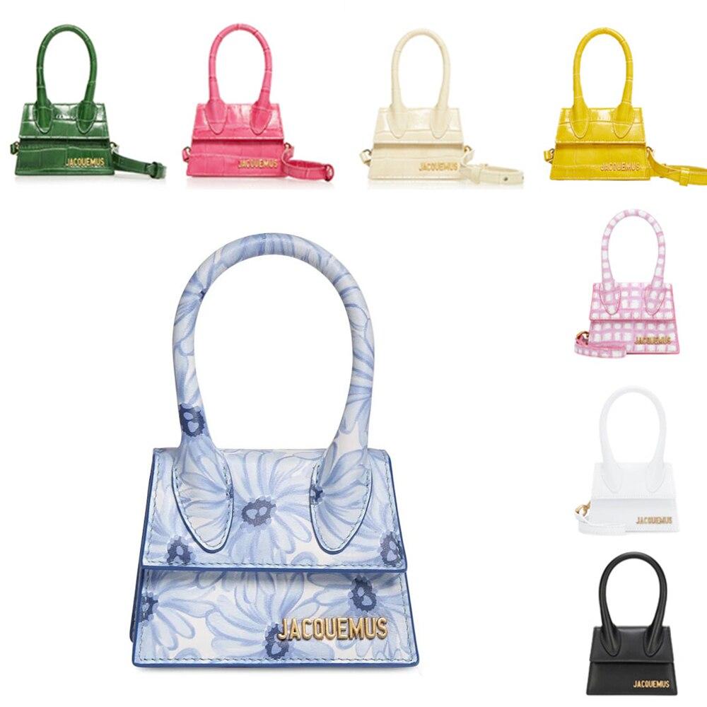 Jacquemus Brand Women's Bag Leather Designer Crossbody Bags Small PU Handbag Tote-bag New Solid Ladies Flap Bag for Women 2020