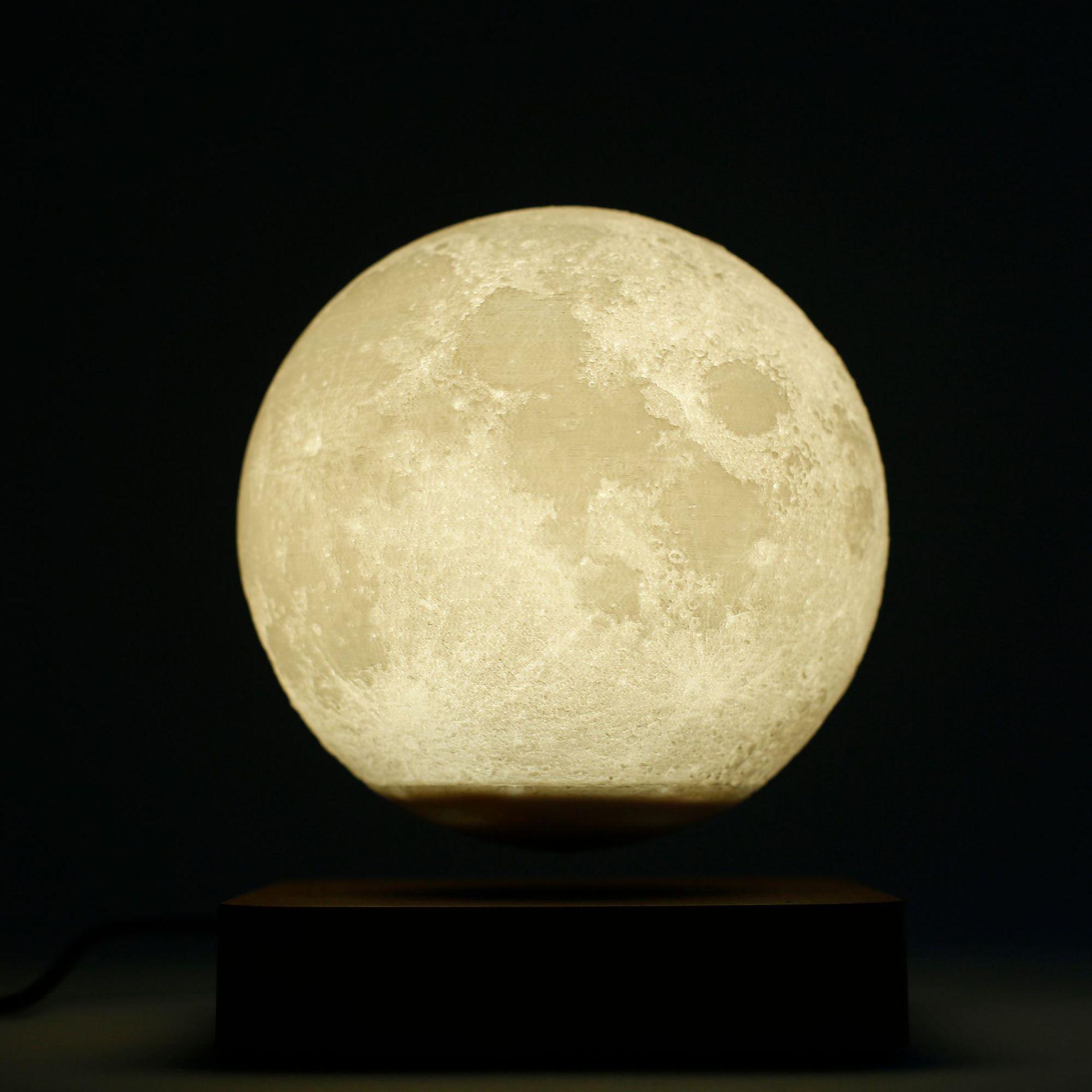Led Light Lamp New Design Creative 3D Magnetic Levitating Moon Lamp Rotating Night Light Led For Home Decoration Holiday Gift enlarge