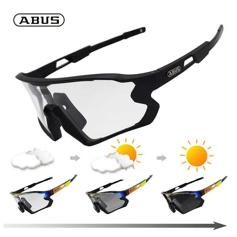 Очки ABUS фотохромные велосипедные солнцезащитные очки для горного велосипеда очки мужские женские мужские спортивные дорожные очки