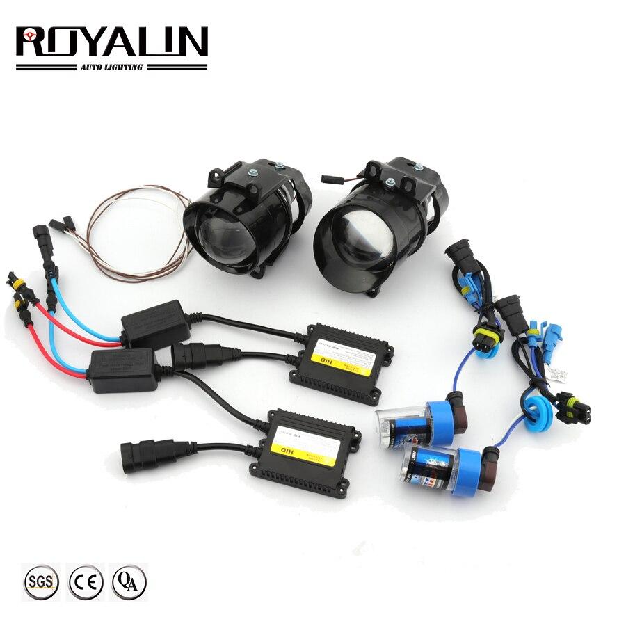 Kit de lentes de luces antiniebla ROYALIN para Camry Bi Xenon de coche H11 balasto de encendido para Toyota Corolla Peugeot Citroen Prius