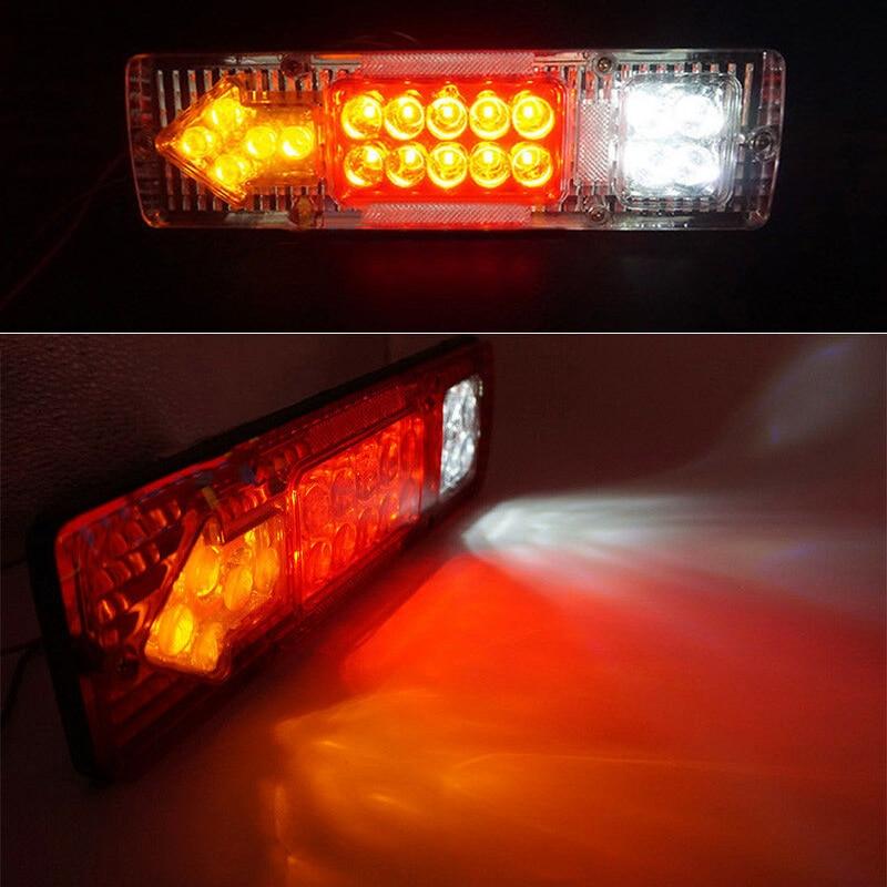 Hinten Schwanz Licht Bremse Blinker Reverse Lampe 12V 19 LED Fit Auto/Anhänger/Lkw
