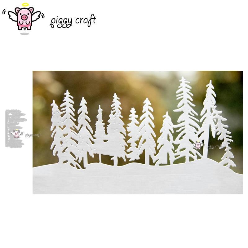 Поросенок ремесленный Металл резки штампы высечки формы Новая Рождественская елка группа записная книжка нож лекало, лезвие трафареты для резки штампов