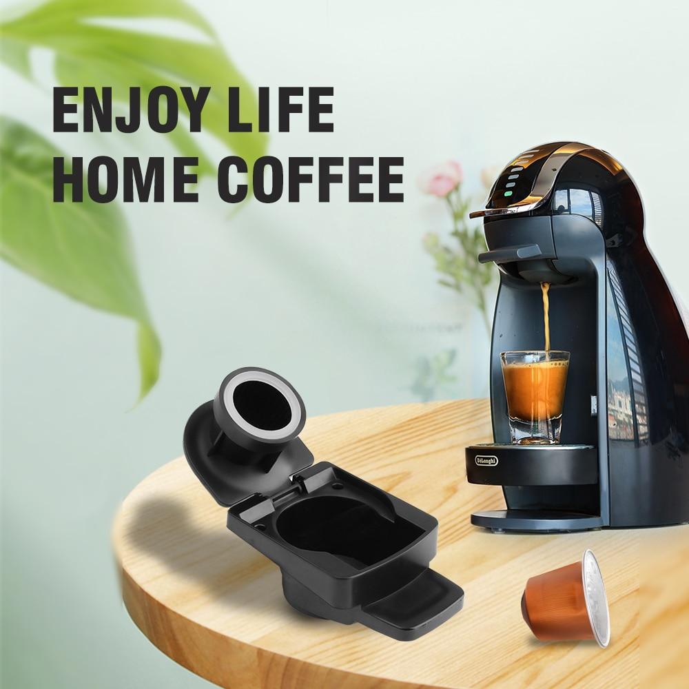 كبسولات القهوة القابلة لإعادة الاستخدام ومحول لدولتشي غوستو ماكينة القهوة الفولاذ المقاوم للصدأ صديقة للبيئة الغذاء الصف فلتر إعادة الملء