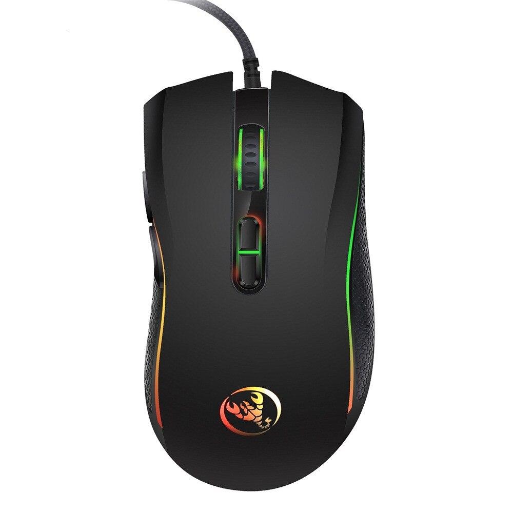Высококачественная оптическая профессиональная игровая мышь с 7 яркими цветами, светодиодный дизайн с подсветкой и эргономикой для удобно...